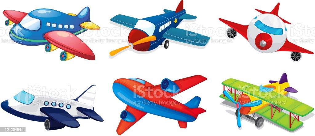 Aviones de juguete - ilustración de arte vectorial