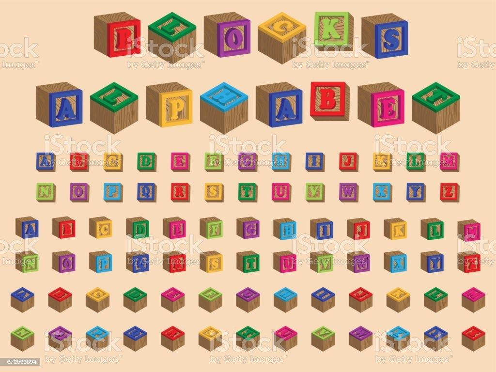 Toy Block Alphabet vector art illustration