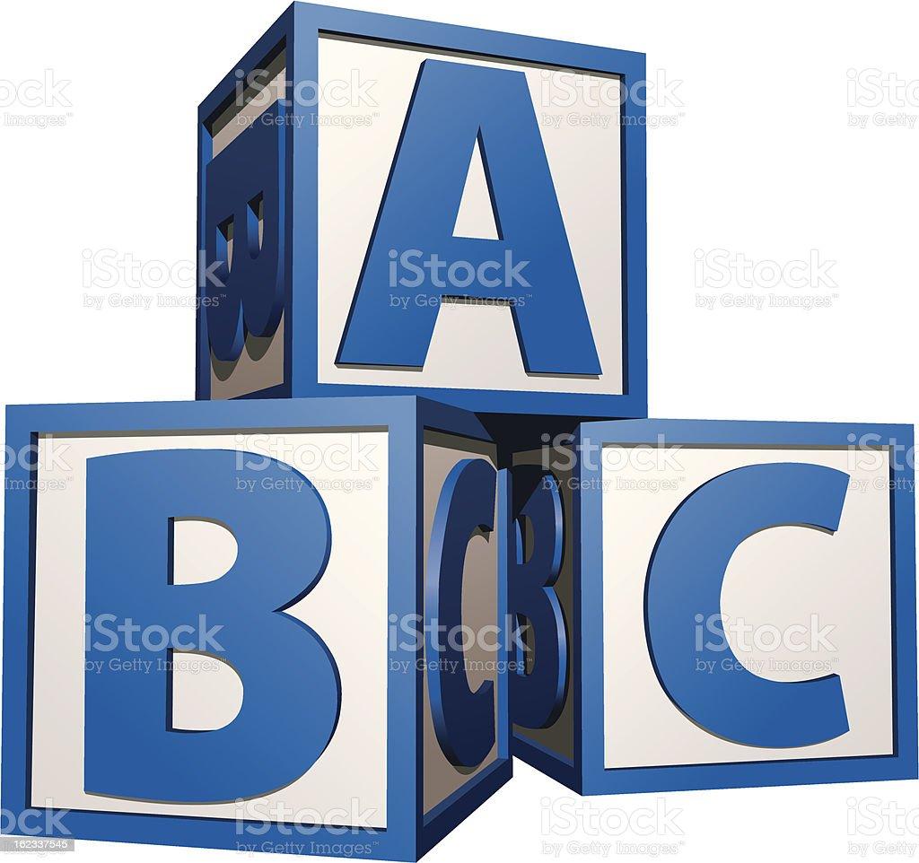 Bloques de construcción-azul - ilustración de arte vectorial