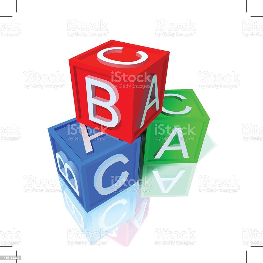 Bloques de juguete - ilustración de arte vectorial