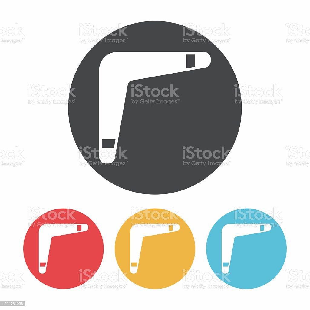 toy boomerang icon vector art illustration