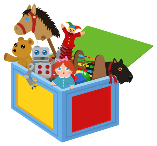 toy box - zabawka stock illustrations