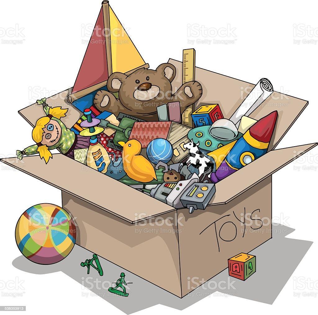 Toy box vector art illustration