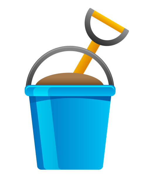 toy bucket icon vector art illustration