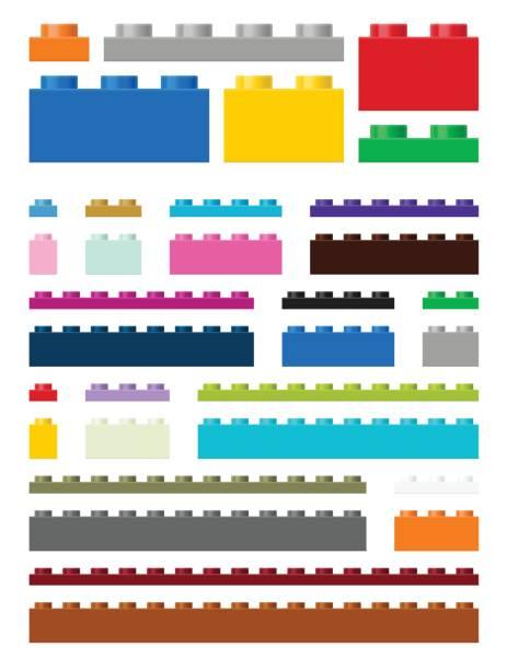 illustrations, cliparts, dessins animés et icônes de pièces de construction jouet - cube