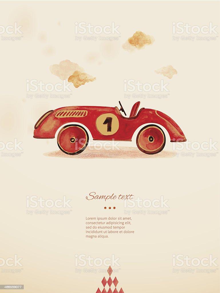 Toy car. Eps 10 vector art illustration