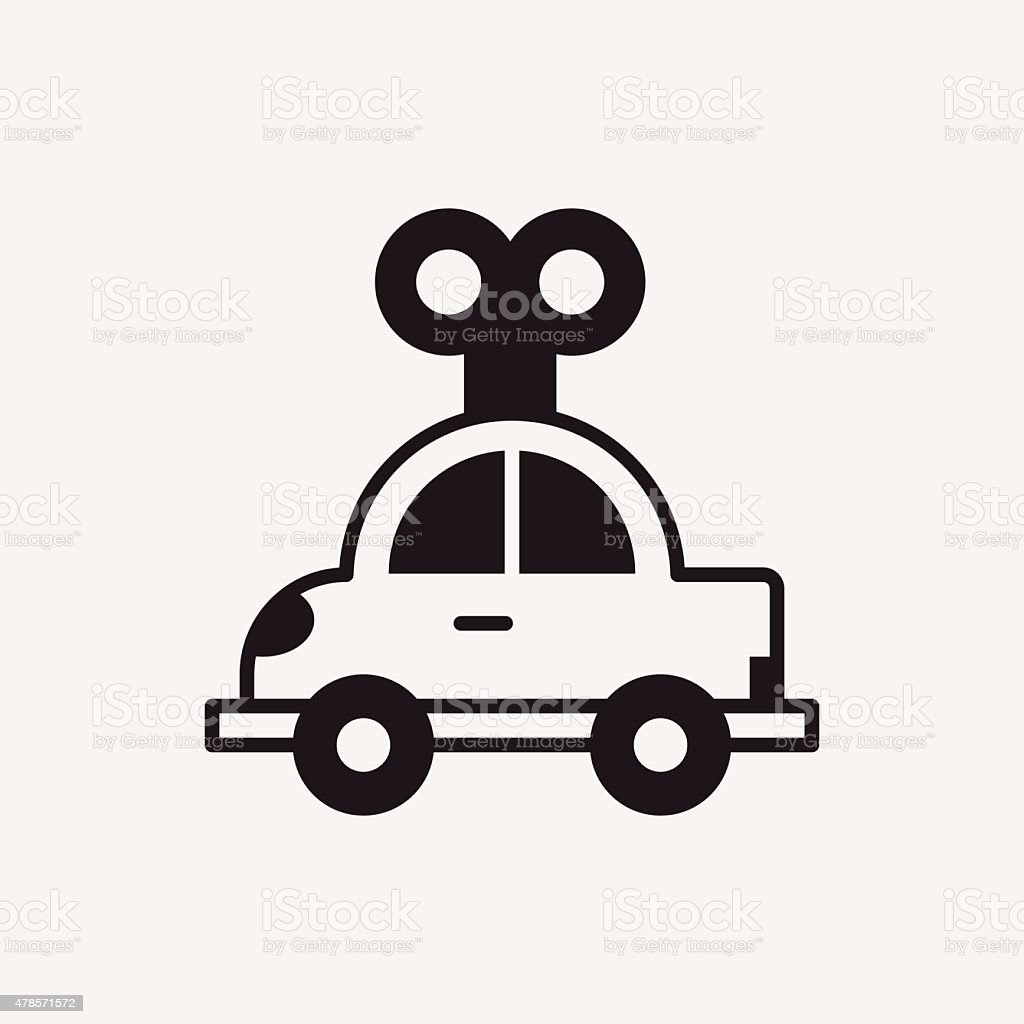 Toy Car Icon Stock Vector Art More Images Of 2015 478571572 Istock