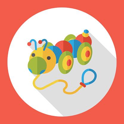 toy Caterpillar flat icon
