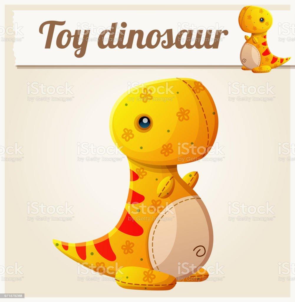 Toy dinosaur 6. Cartoon vector illustration vector art illustration