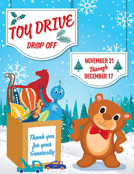 Toys For Tots 2017 Poster : Royalty free toy drive clip art vector images