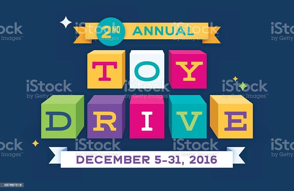 Toy Drive - ilustração de arte em vetor
