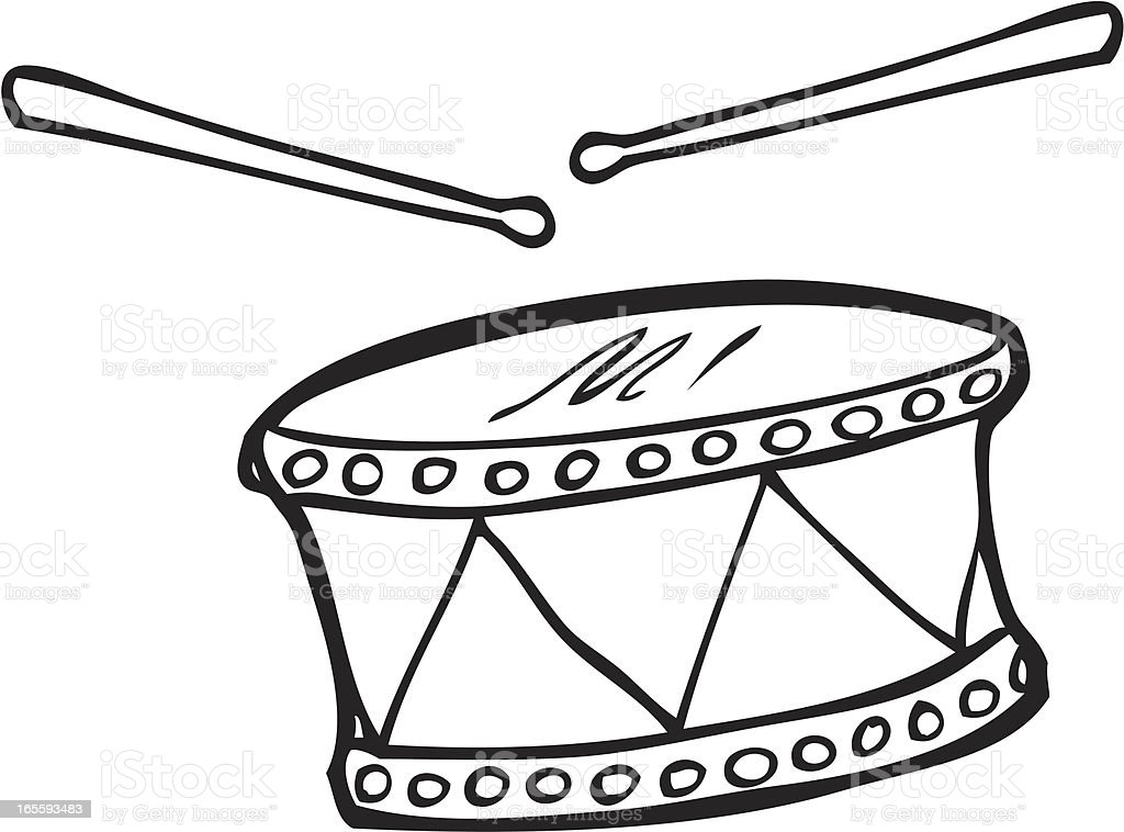 Line Art Cartoon Toys Vector : Toy drum with drumsticks line art stock vector more