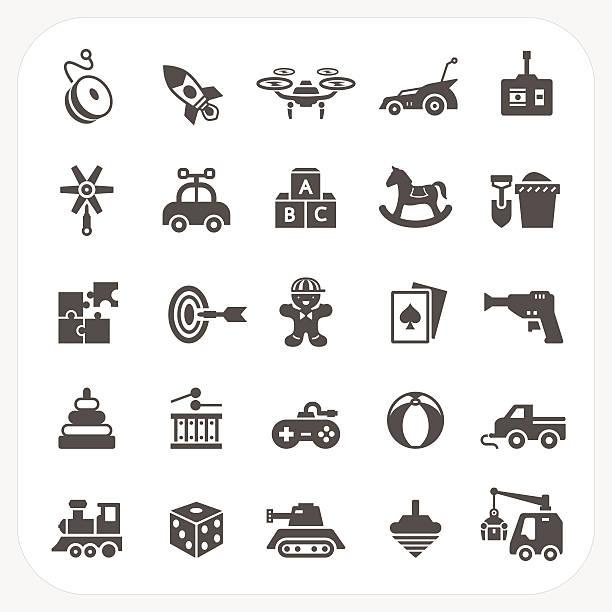 Conjunto de ícones de Brinquedo - ilustração de arte em vetor