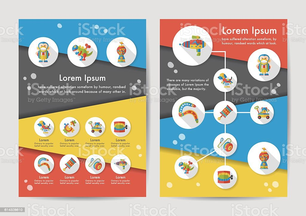 Toy icons set with long shadow,eps10 vector art illustration