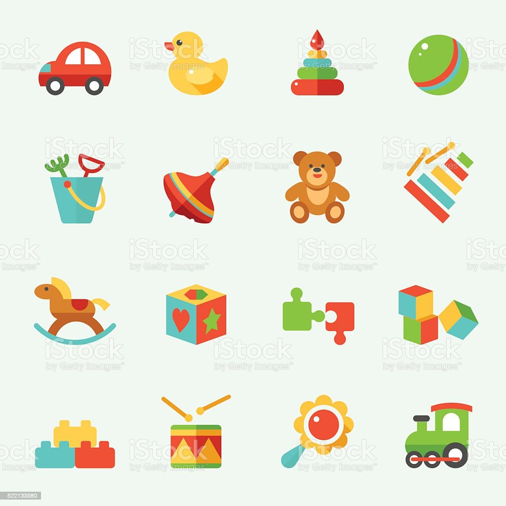 Toy icons royalty-free toy icons stock illustration - download image now
