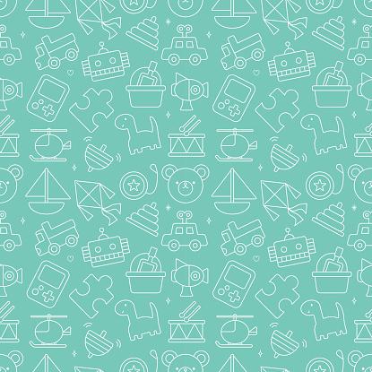 toy line icon pattern set