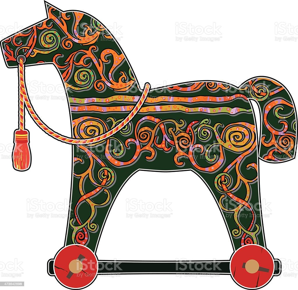 toy pony vector art illustration