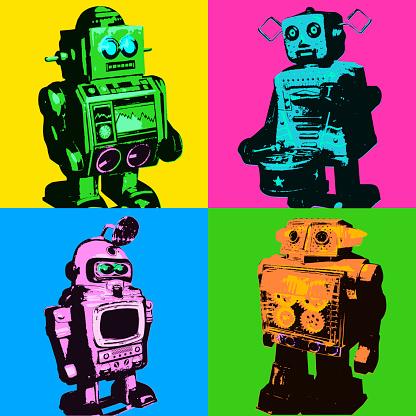 Toy Retro Robots
