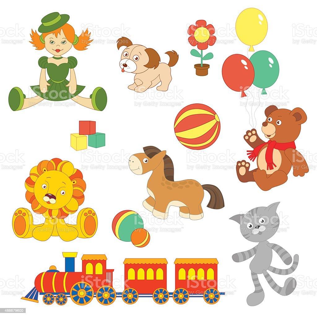 Conjunto de Brinquedos - ilustração de arte vetorial