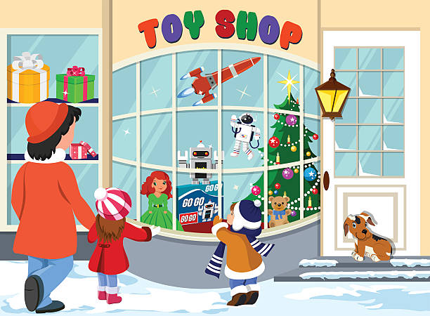 Toy Shop Toy Shop birthday wishes for daughter stock illustrations