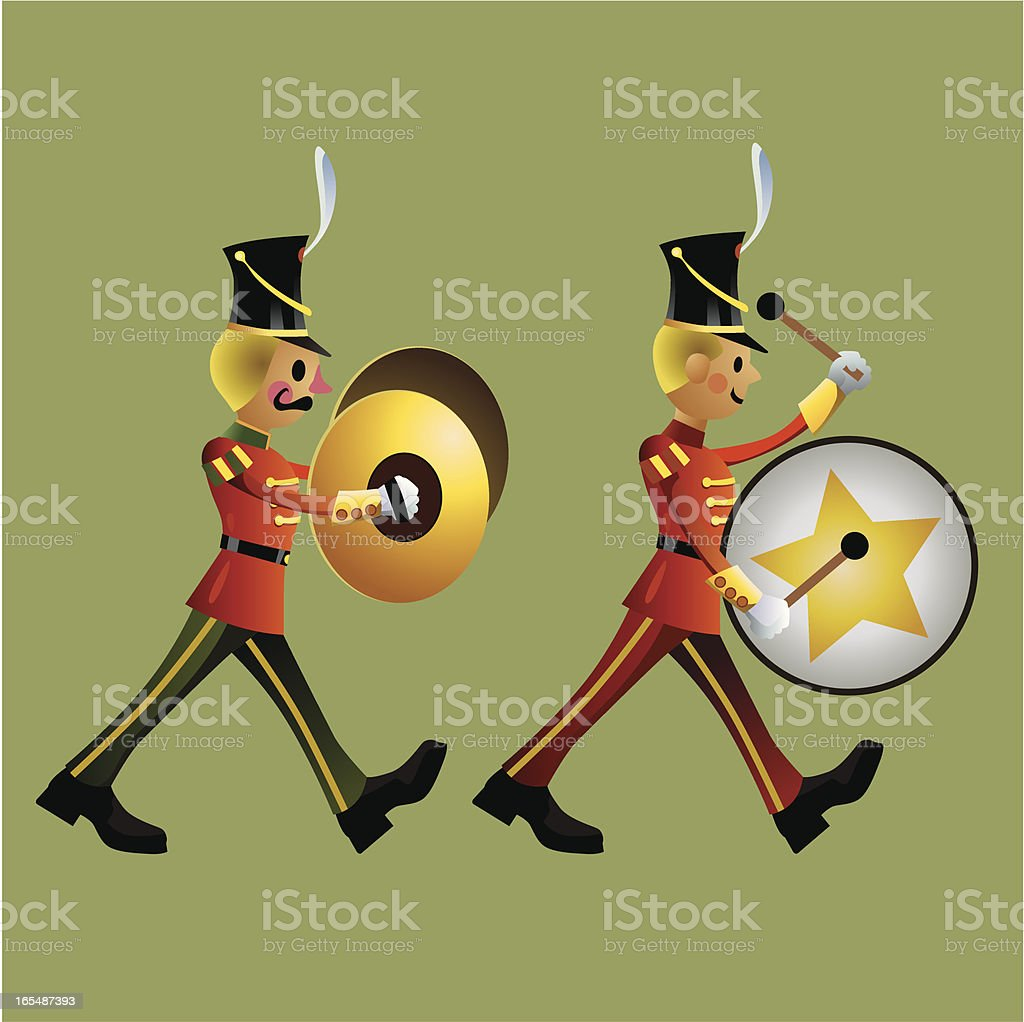 Toy soldier Army Band set C vector art illustration