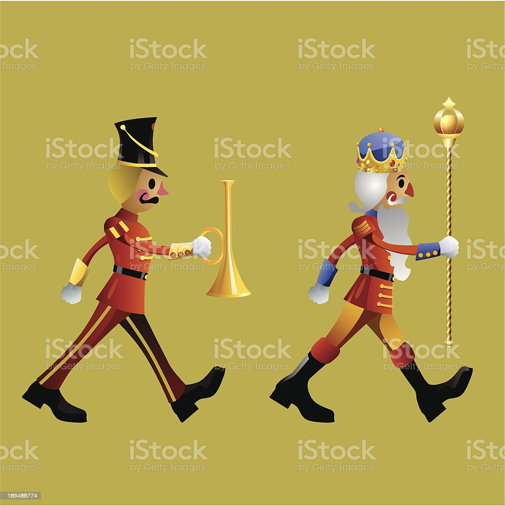 Toy soldiers army band set A vector art illustration
