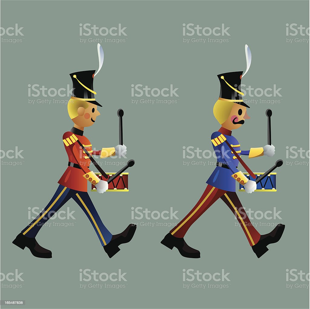 Toy soldiers army band set B vector art illustration