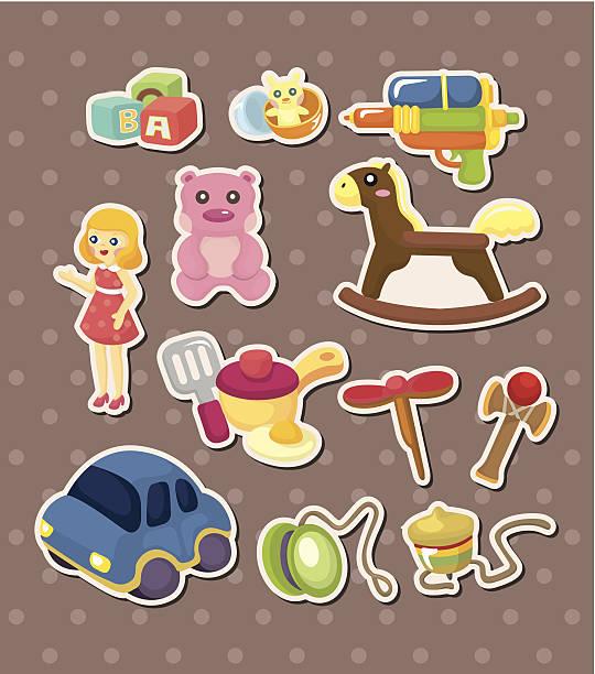 Pegatinas de juguete - ilustración de arte vectorial