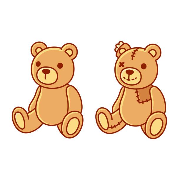ilustrações de stock, clip art, desenhos animados e ícones de toy teddy bear - teddy bear