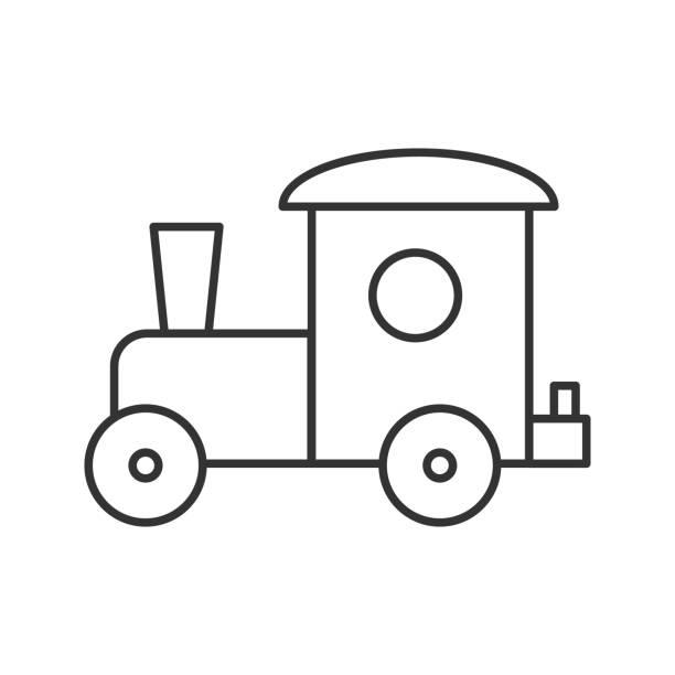 spielzeug-zug-symbol - puppenkurse stock-grafiken, -clipart, -cartoons und -symbole