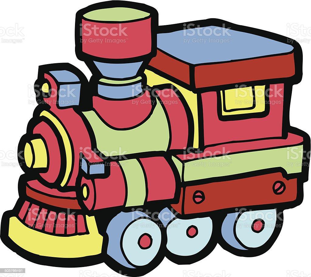 Spielzeugeisenbahn vektorcomicclipart vektor illustration