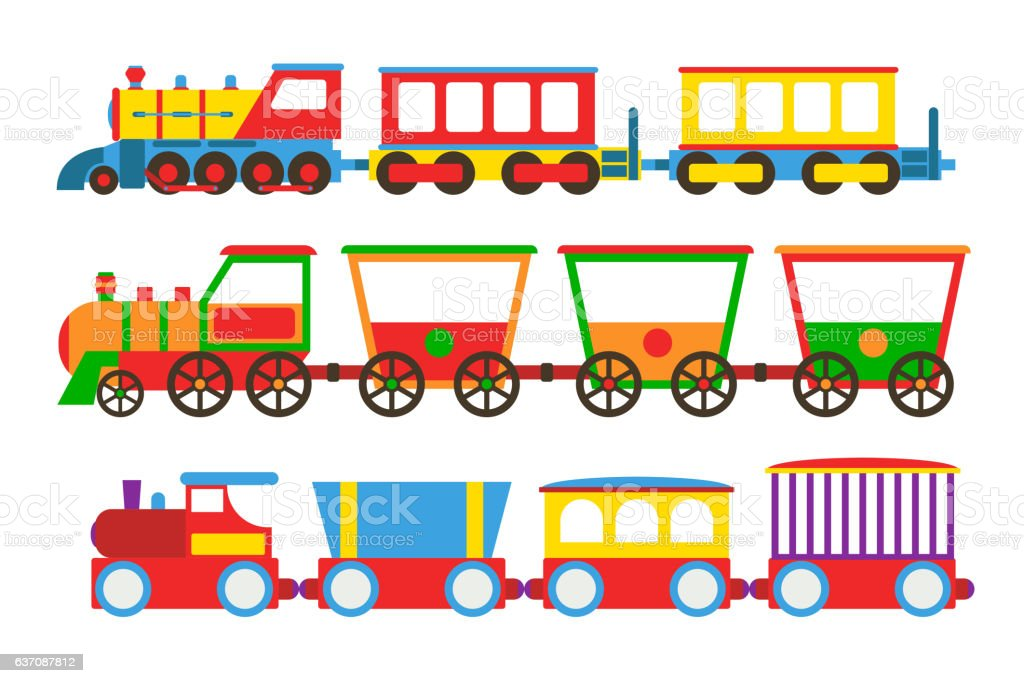 Toy train vector illustration. vector art illustration