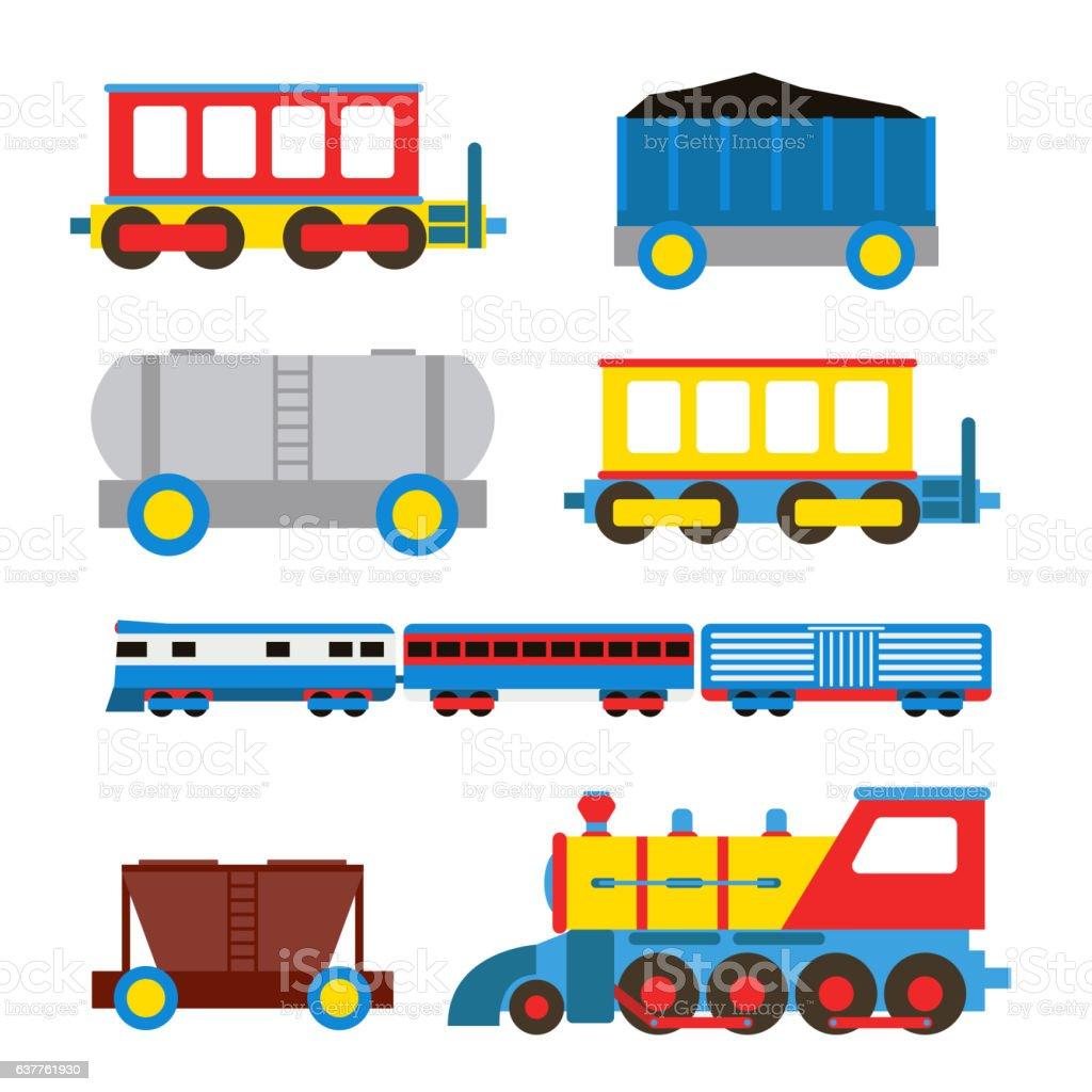 Toy train vector illustration. vector art illustration