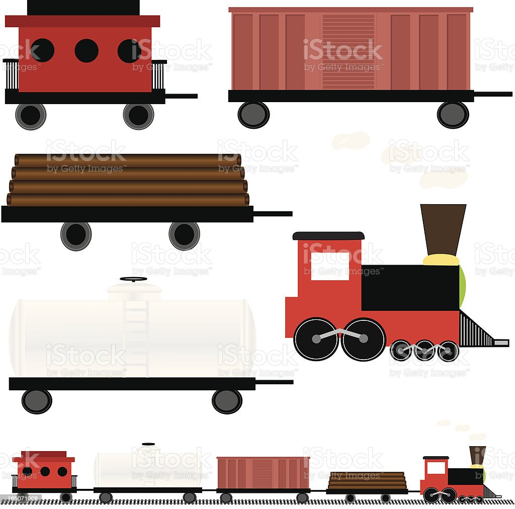 royalty free caboose clip art vector images illustrations istock rh istockphoto com line caboose clipart caboose clip art cemetery marker