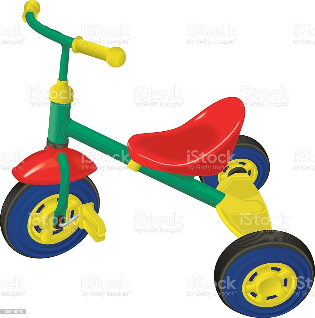 Toy Tricycle vector art illustration