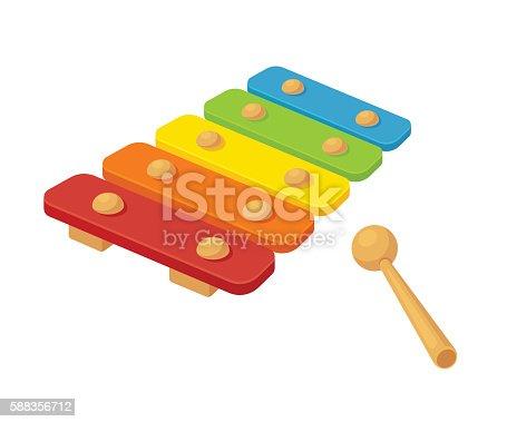 istock Toy xylophone illustration 588356712