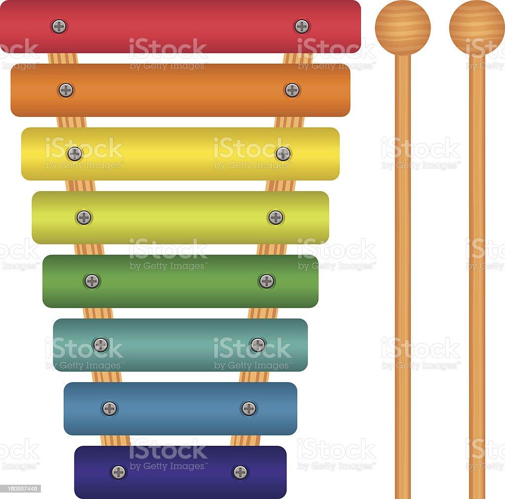 Xilofone de Brinquedo - ilustração de arte em vetor
