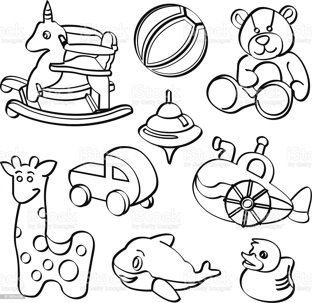Boy Toys Drawing : Toys collection stock vector art more images of adult