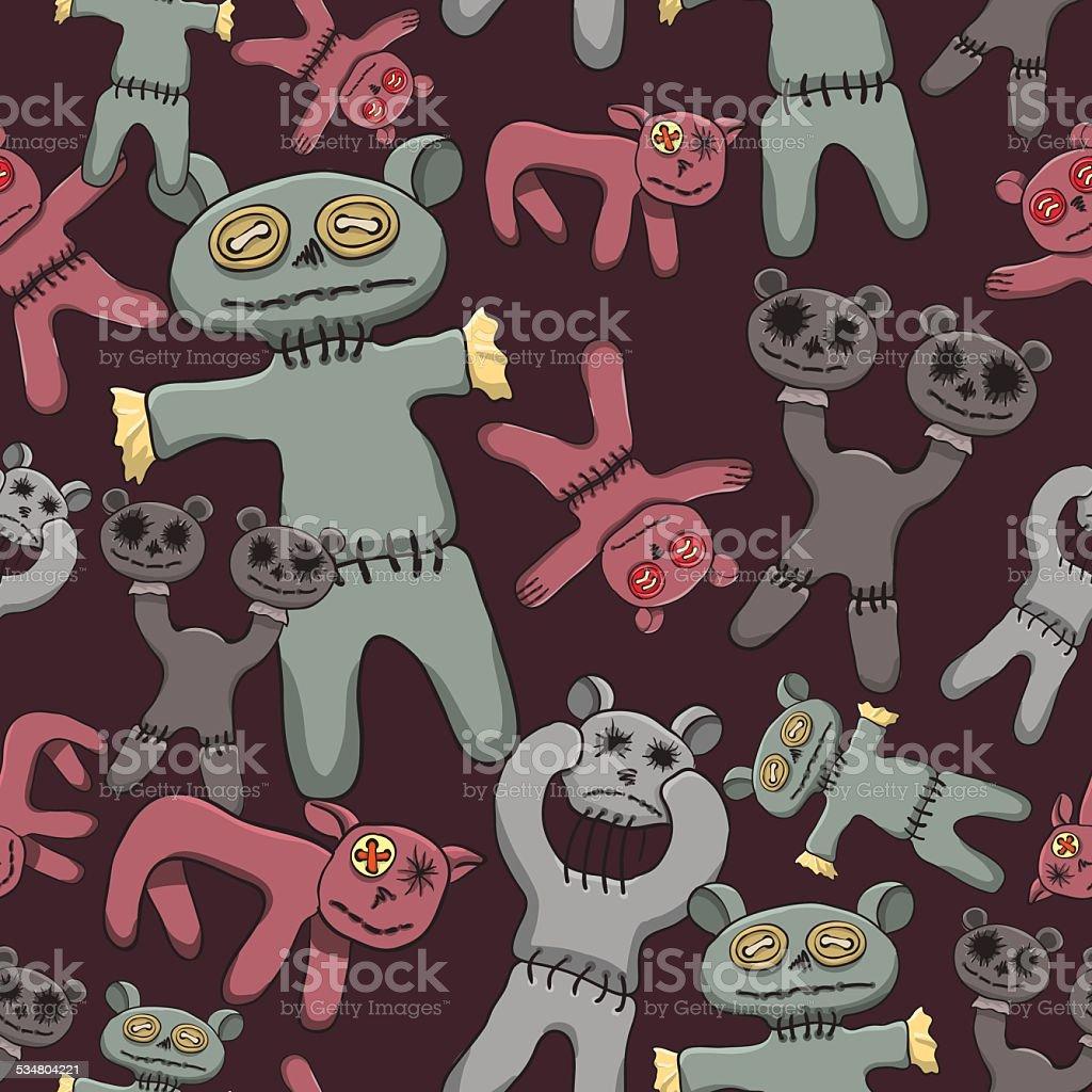 Toys died vector art illustration