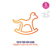 istock Toys For Kids Continuous Line Editable Icon 1250124582
