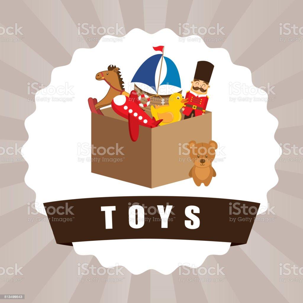 toys graphic vector art illustration