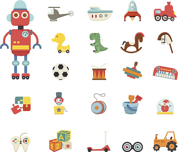 stockillustraties, clipart, cartoons en iconen met toys icon - baby toy