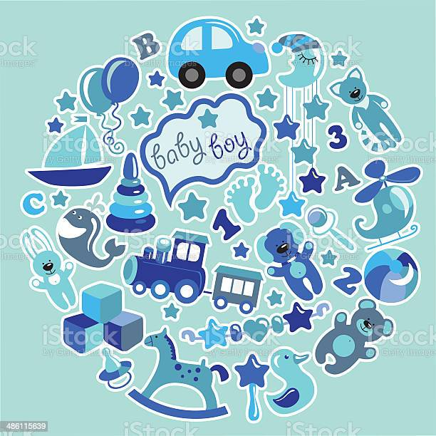 Toys icons for baby boy in circleblue colors vector id486115639?b=1&k=6&m=486115639&s=612x612&h=ysdok9qmfqiwuwlo i9zccaz1ls h0g2secpbtcd5js=