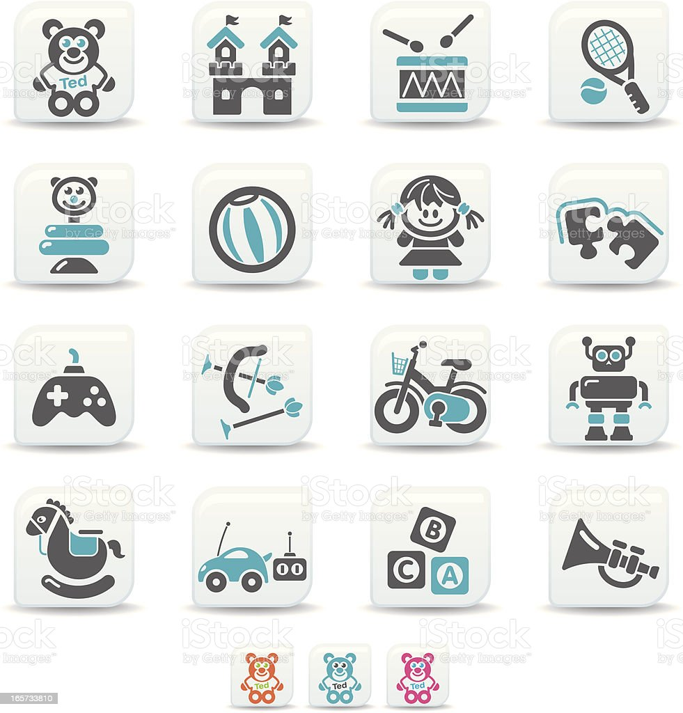 toys icons | simicoso collection royalty-free stock vector art
