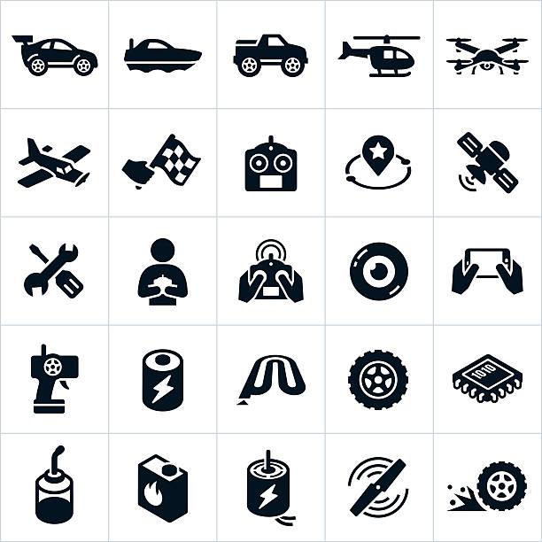 rc おもちゃのアイコン - リモート点のイラスト素材/クリップアート素材/マンガ素材/アイコン素材