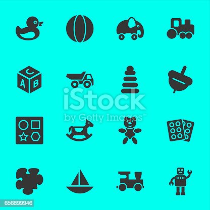Toys Icons Vector EPS File.