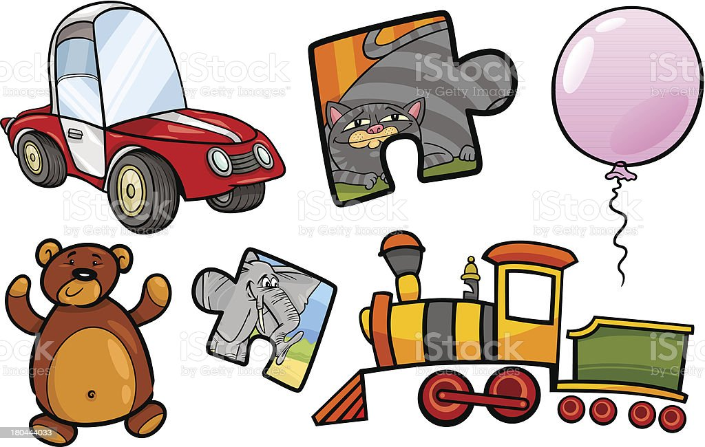 toys objects cartoon illustration set royalty-free stock vector art