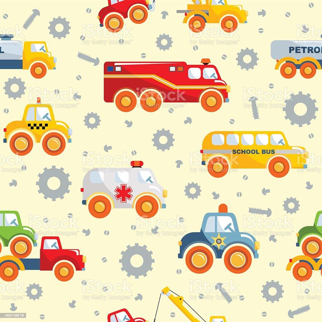 Patrón Sin Costuras De Juguetes De Transporte Illustracion Libre de ...