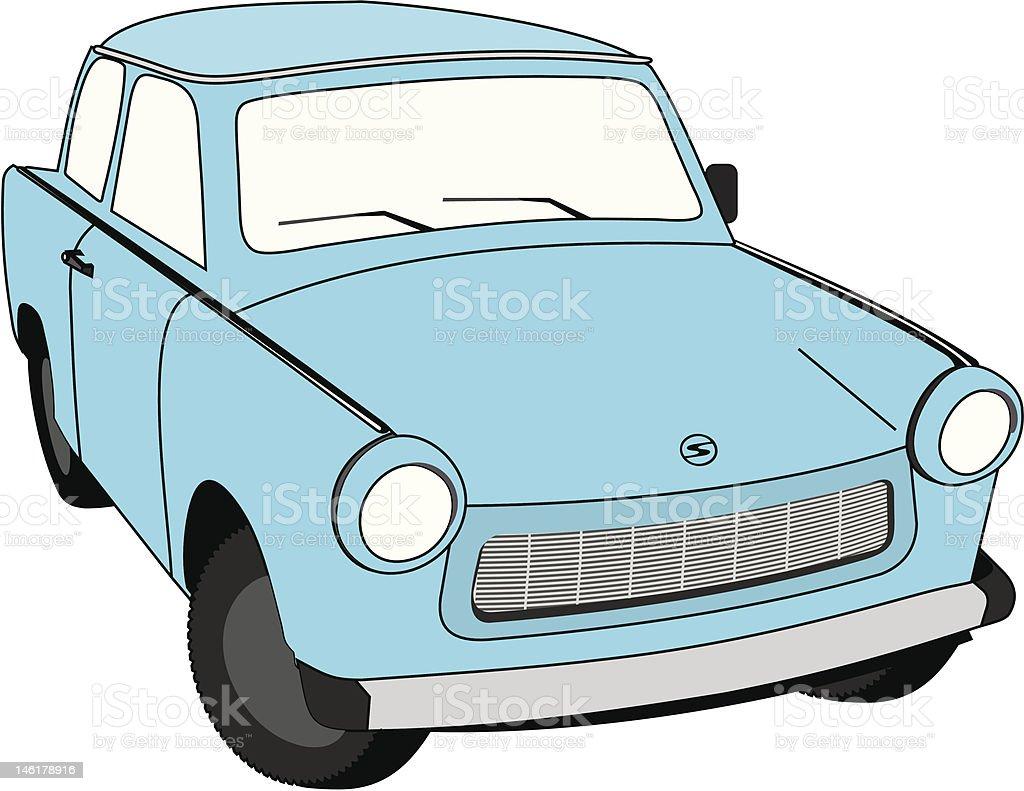 Trabant 601 Limousine vector art illustration