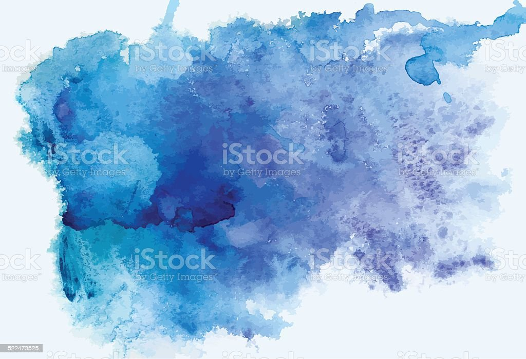traced watercolor vector art illustration